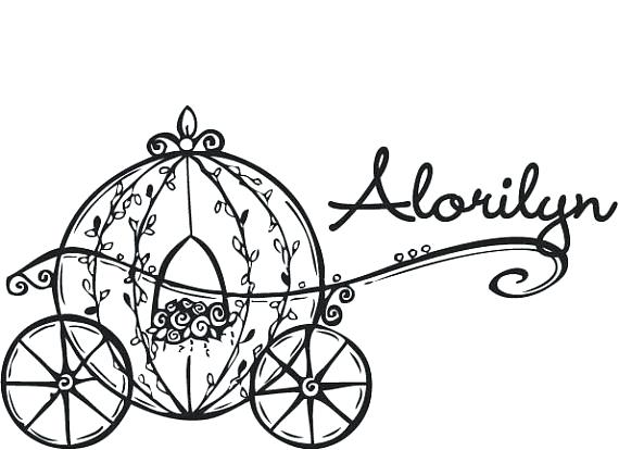 570x414 cinderella carriage coloring sheet carriage coloring