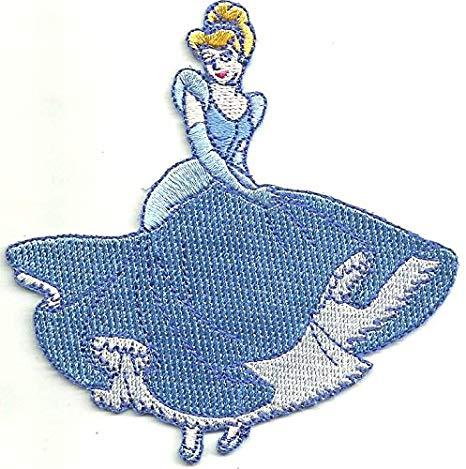 466x469 disney patch cinderella holding dress smile x inch patch