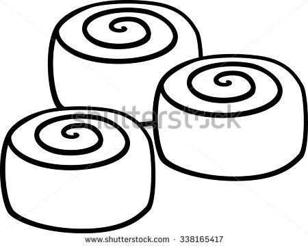 450x361 cinnamon roll clipart