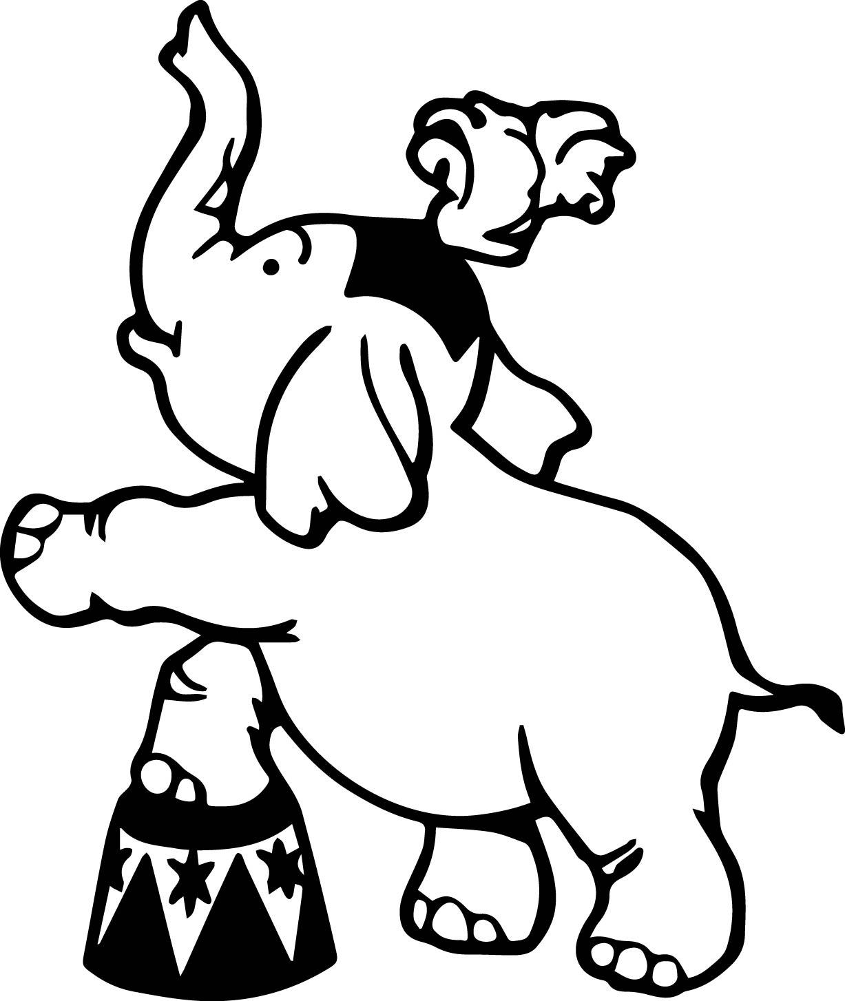 1227x1454 Circus Elephant Coloring