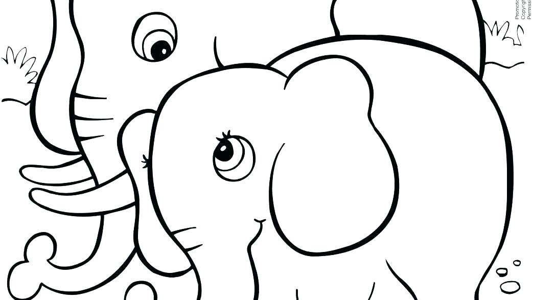1043x587 Circus Elephant Coloring