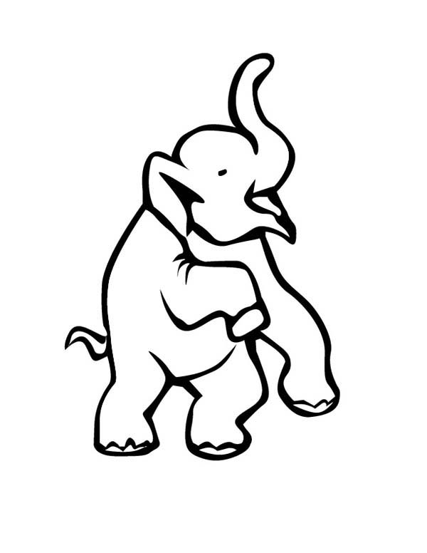 600x776 Circus Elephant Lift His Two Feet Coloring Pages Best Place To Color