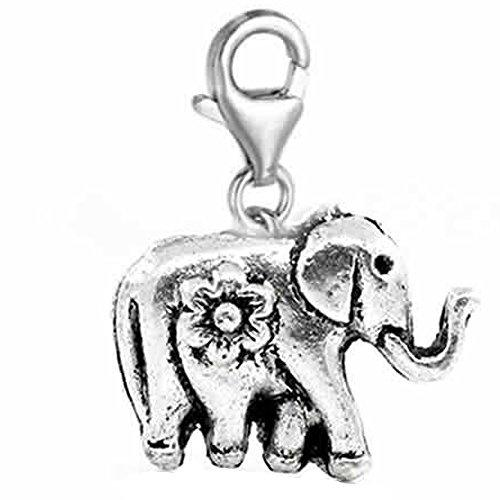 500x500 Clip On Circus Elephant Charm Dangle Pendant For European Clip
