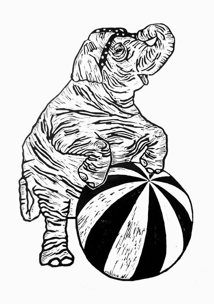 720x1019 Monika Petersen, Circus Elephant