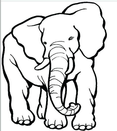 472x532 Outline Elephant Circus Elephant Linear Icon Modern Outline Circus