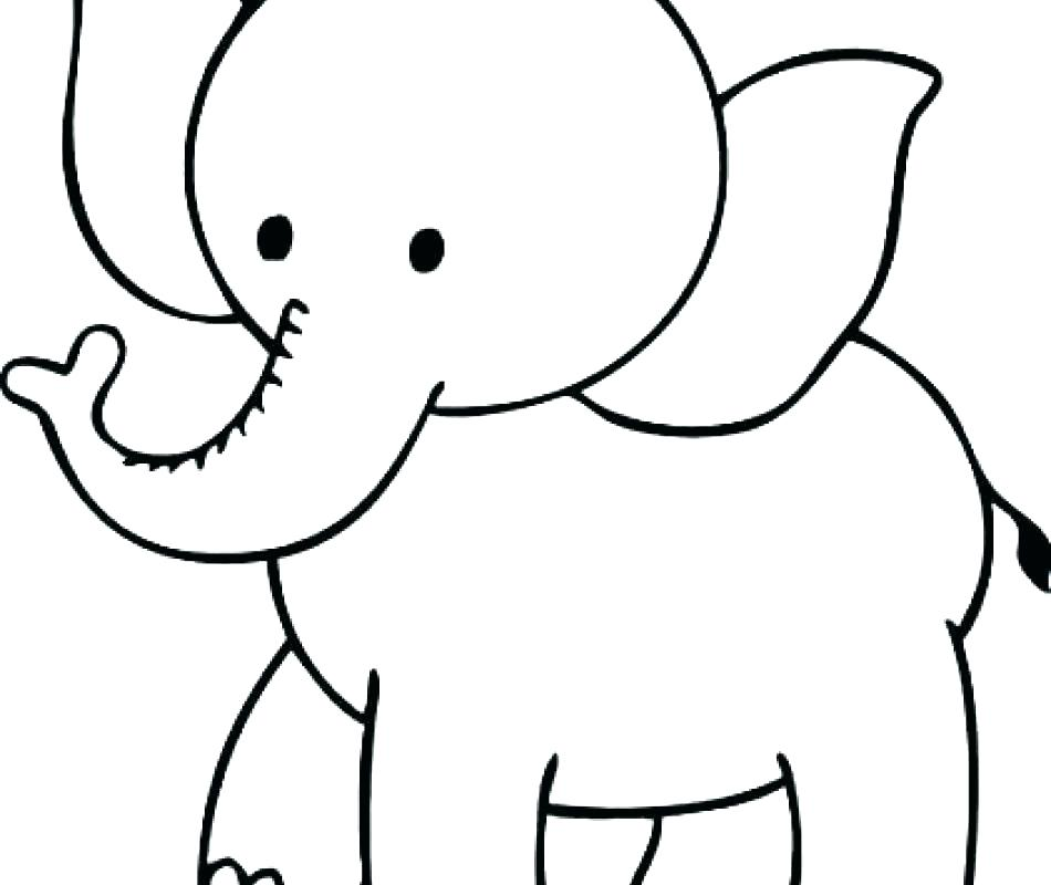 950x800 Printable Elephant Picture Circus Elephant Coloring