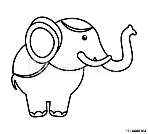 500x453 Circus Elephant Isolated Icon Design