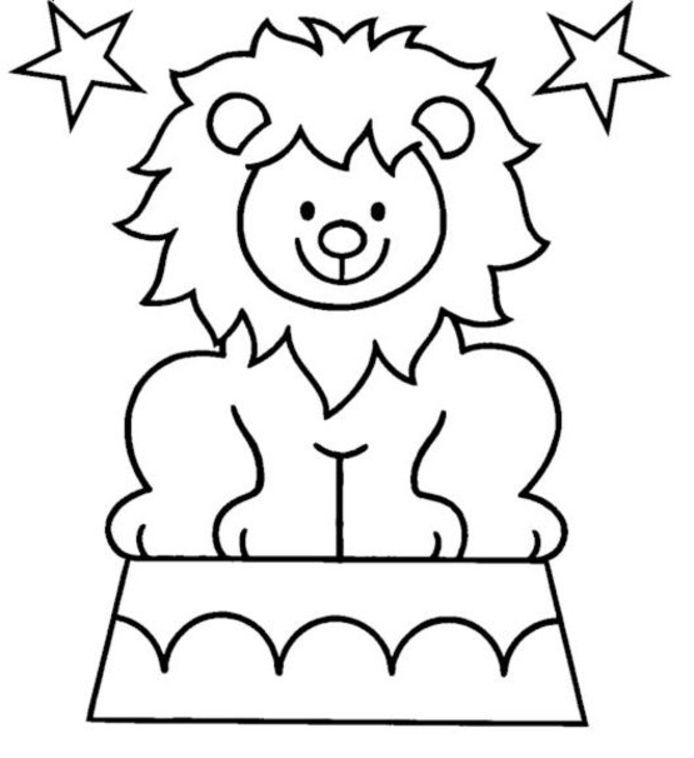 694x758 Circus Lion Coloring Pages All About Top