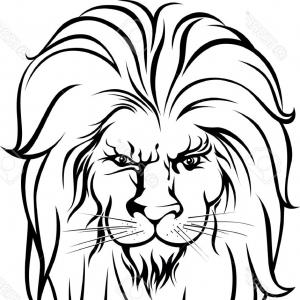 300x300 Lion Circus Hand Draw Pattern Style Vector Art Gm Arenawp