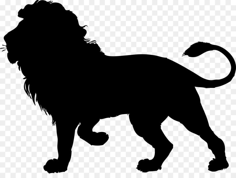 900x680 Lion Silhouette Clip