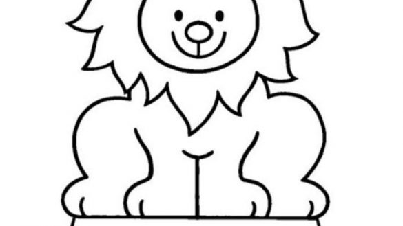 585x329 Nice Idea Circus Lion Coloring Pages Remarkable Drawing