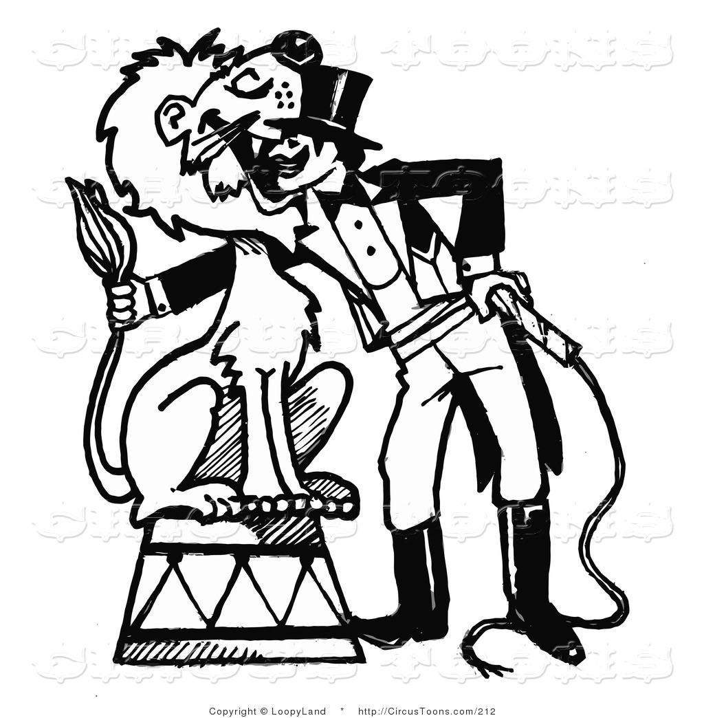 1024x1044 Circus Clipart Of A Black And White Sketched Circus Ringmaster