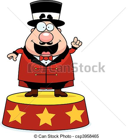 450x470 ringmaster announce a happy cartoon ringmaster announcing the show