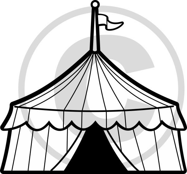 600x558 Circus Drawing Circus Stage For Free Download