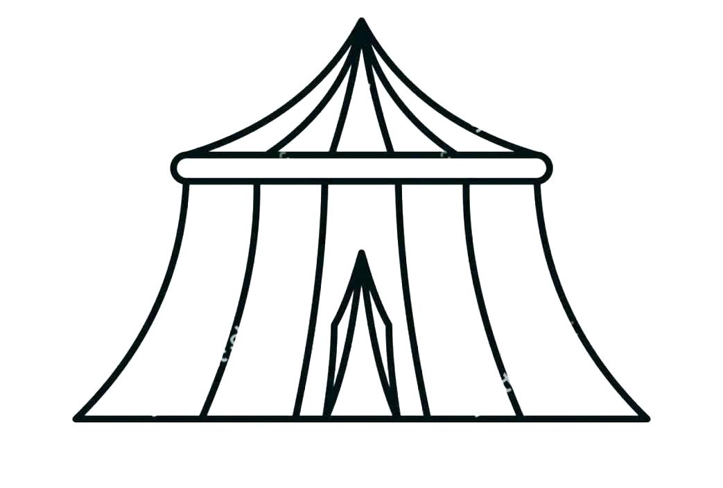 1043x704 Free Circus Tent Coloring Pages Master Drawing At Com For Personal
