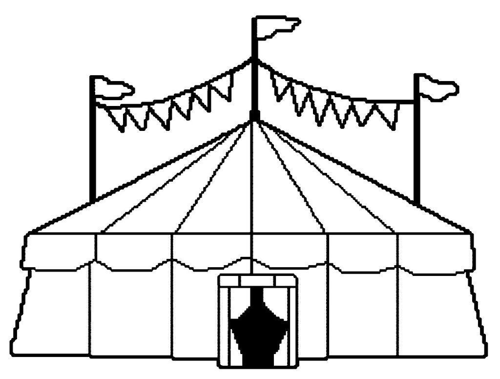 1024x776 Circus Tent Coloring Pages Carnival Jennymorgan