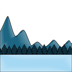300x300 Mountain Drawing Royalty Free Vectors