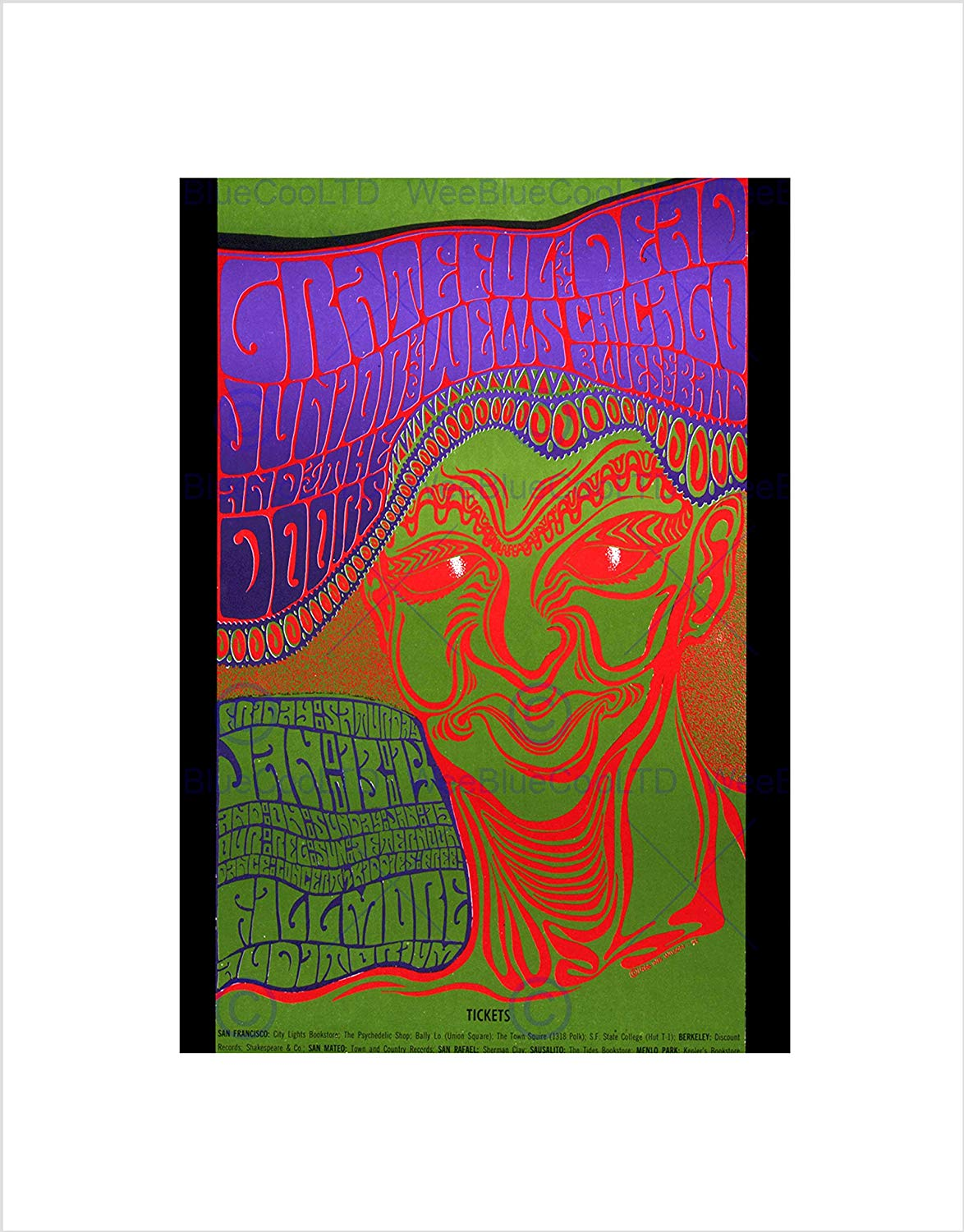 1174x1500 music concert gig grateful dead doors rock trippy icon