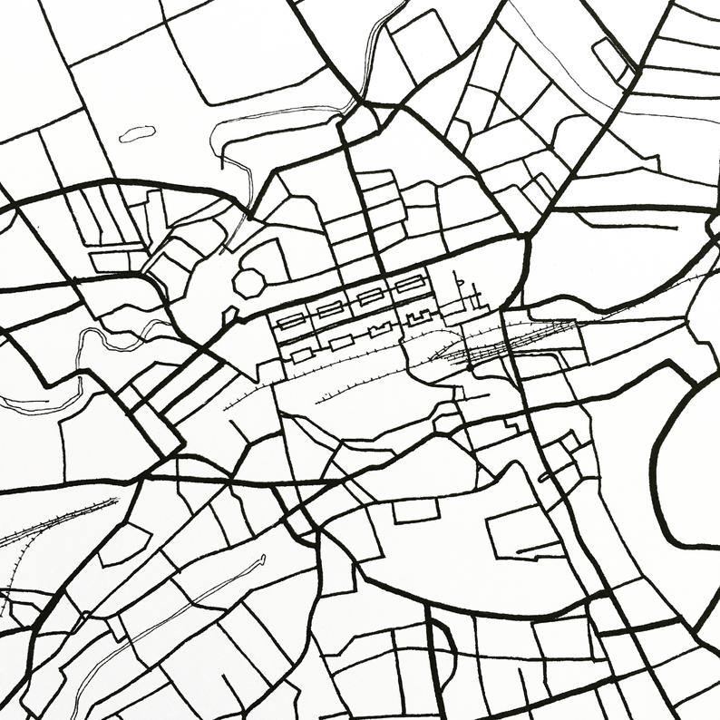 794x794 edinburgh map street map scotland city map drawing black and etsy