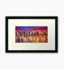 210x230 City Skyline Drawing Wall Art Redbubble