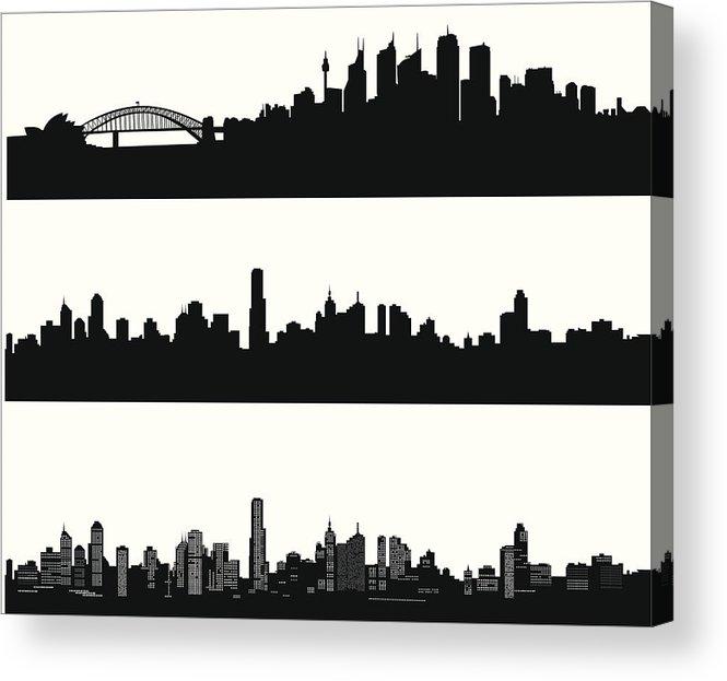 665x623 City Skylines Acrylic Print