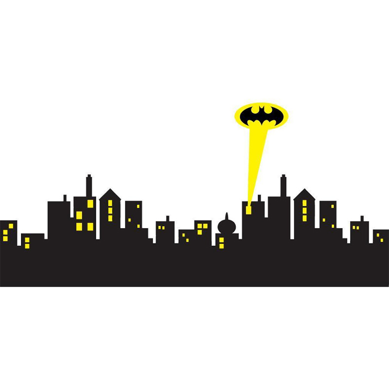 800x800 Huge Collection Of 'gotham City Skyline Drawing' Download More