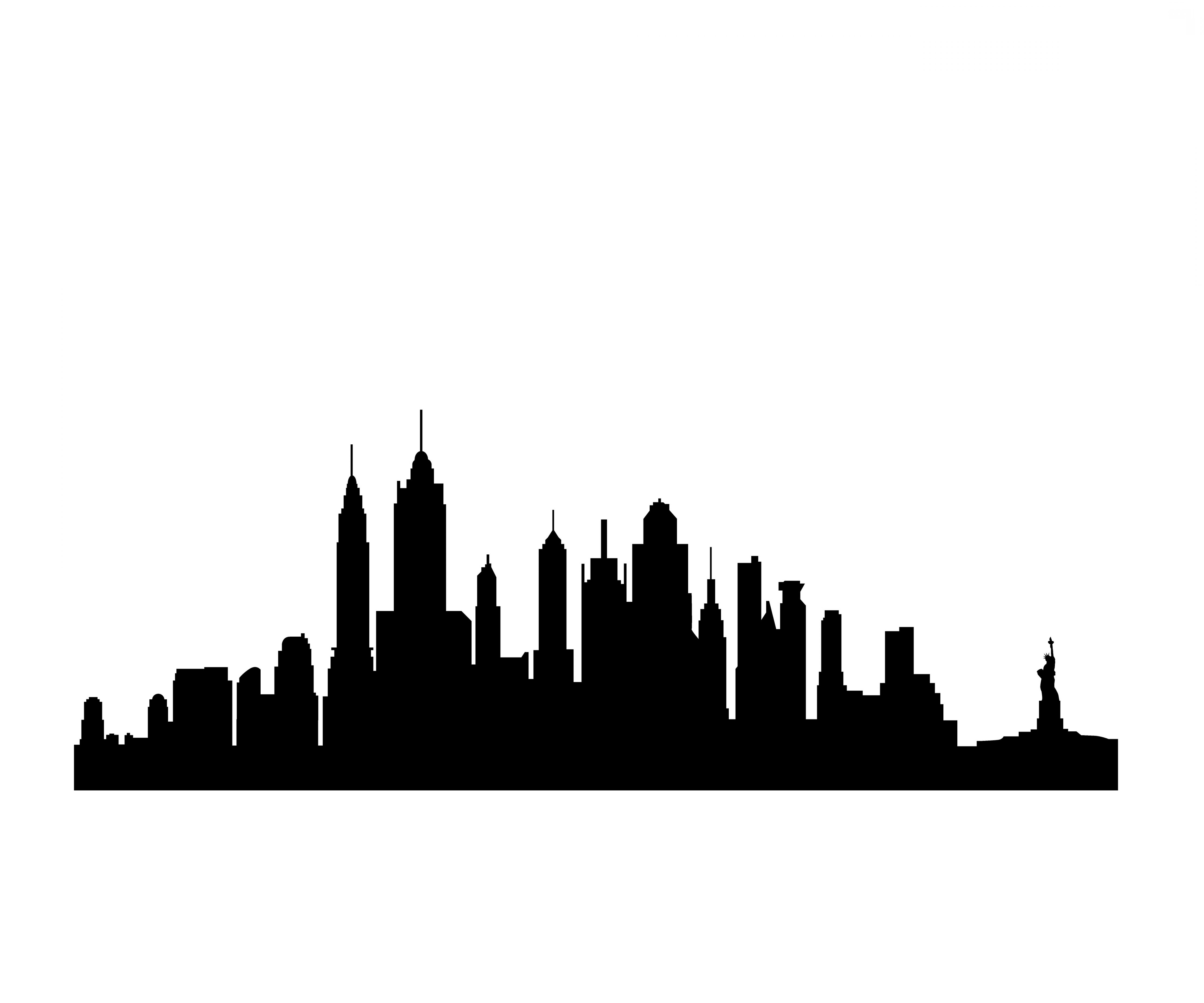 5184x4320 New York City Silhouette Drawing