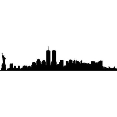 450x450 New York City Skyline Silhouette With Twin Towers