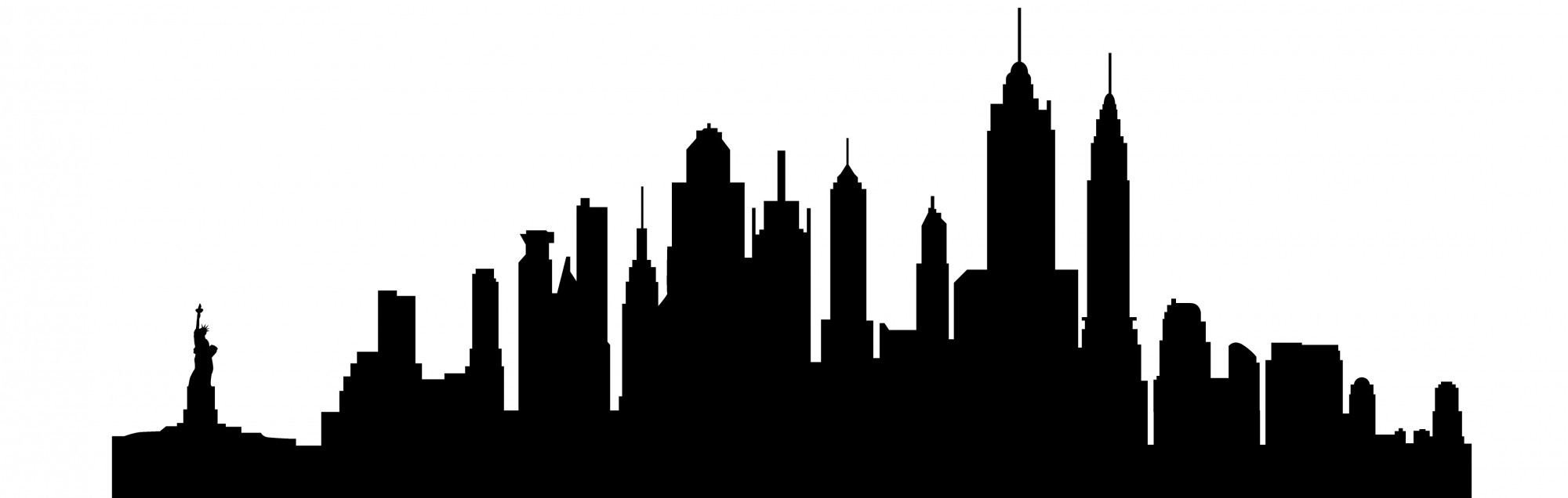 2000x636 Cropped Nyc Skyline Drawing And Free Clip Art New York City