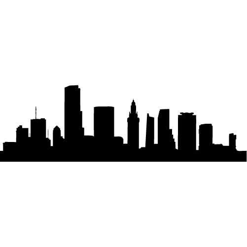 501x501 Collection Of 'cleveland Ohio Skyline Silhouette' Download More