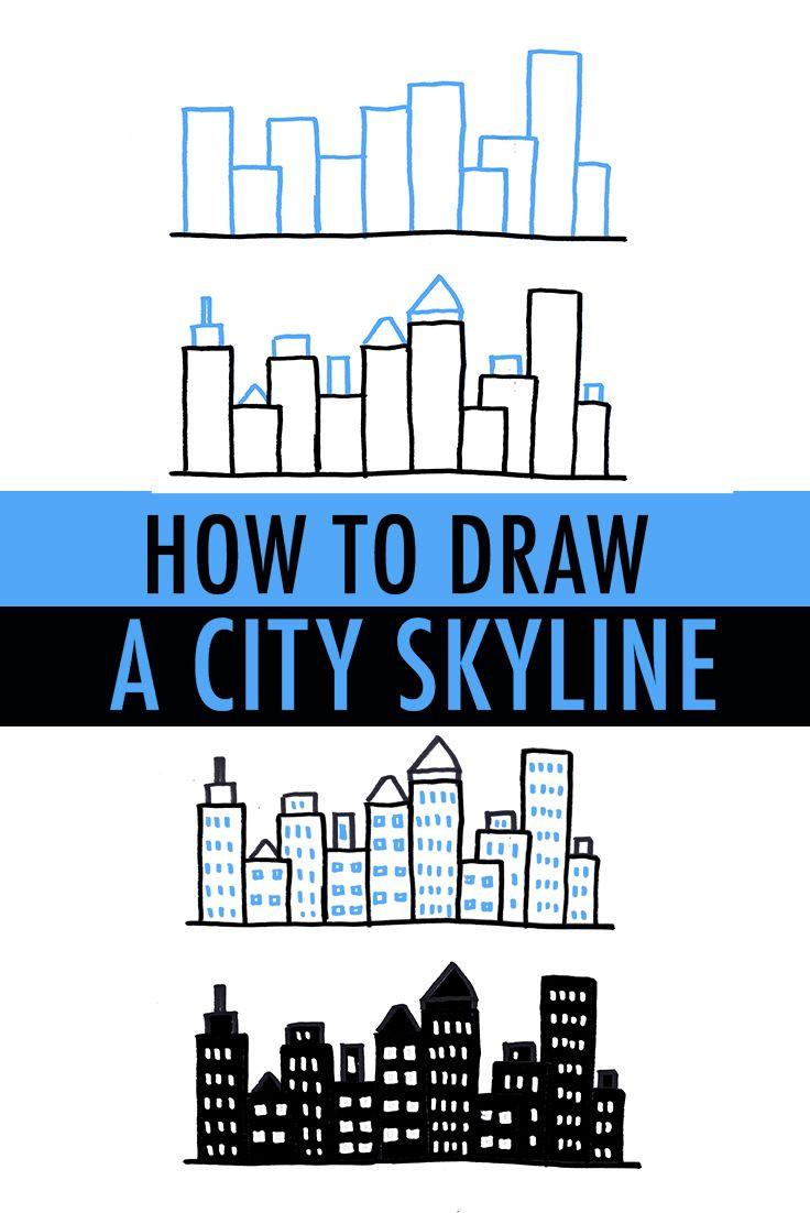 736x1102 How To Draw A City Skyline Ways Simple Shapes Skylines