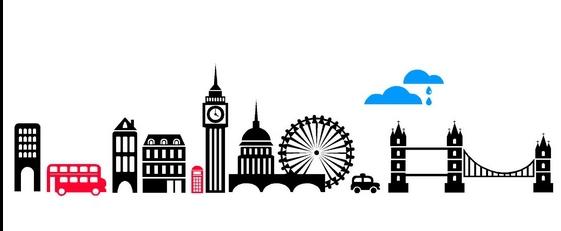561x231 London Skyline Silhouette Simple