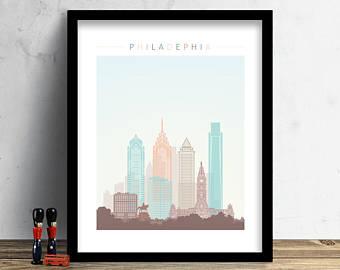 340x270 Philadelphia Skyline Etsy