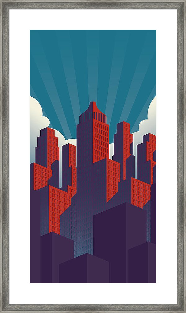 600x1011 Simple Propaganda Poster Style City Illustration With Red