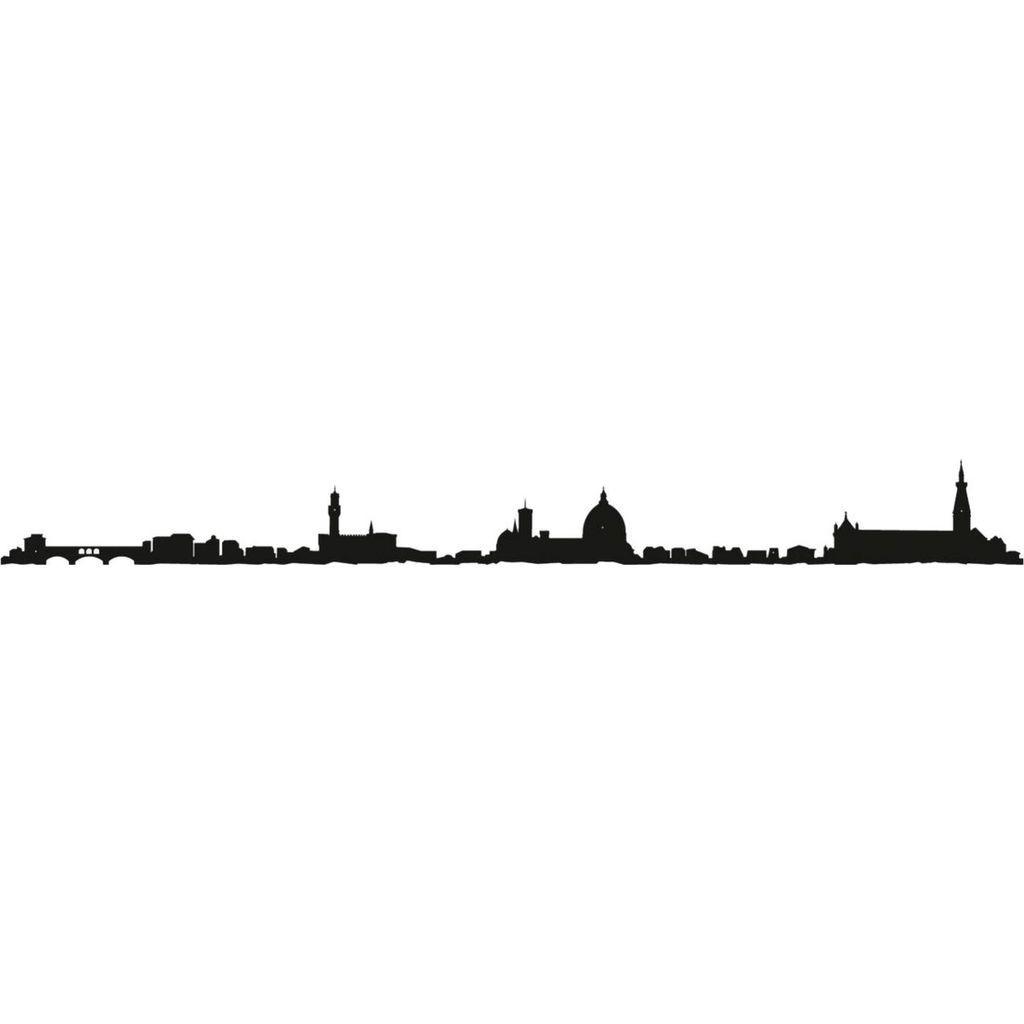 1024x1024 The Line City Skyline Wall Art Silhouette