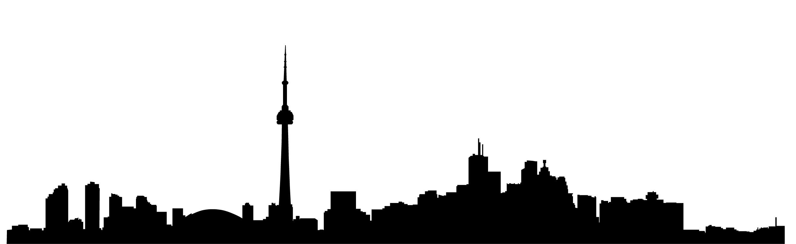 2652x815 Toronto Skyline Silhouette Simple