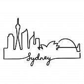 170x170 Sydney Harbour Bridge Simple Drawing Poster