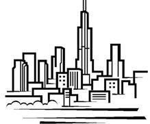 219x181 Chicago City Skyline Black White For Simple