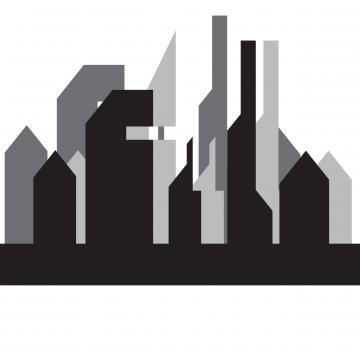 360x360 City Skyline Building Pixels Illustration Vector, Architecture