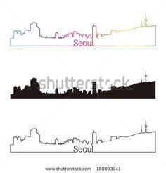 City Skyline Line Drawing