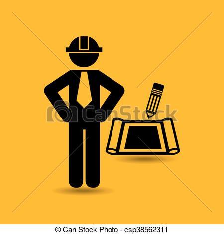 450x470 civil engineering icon with icon, vector illustration vector clip