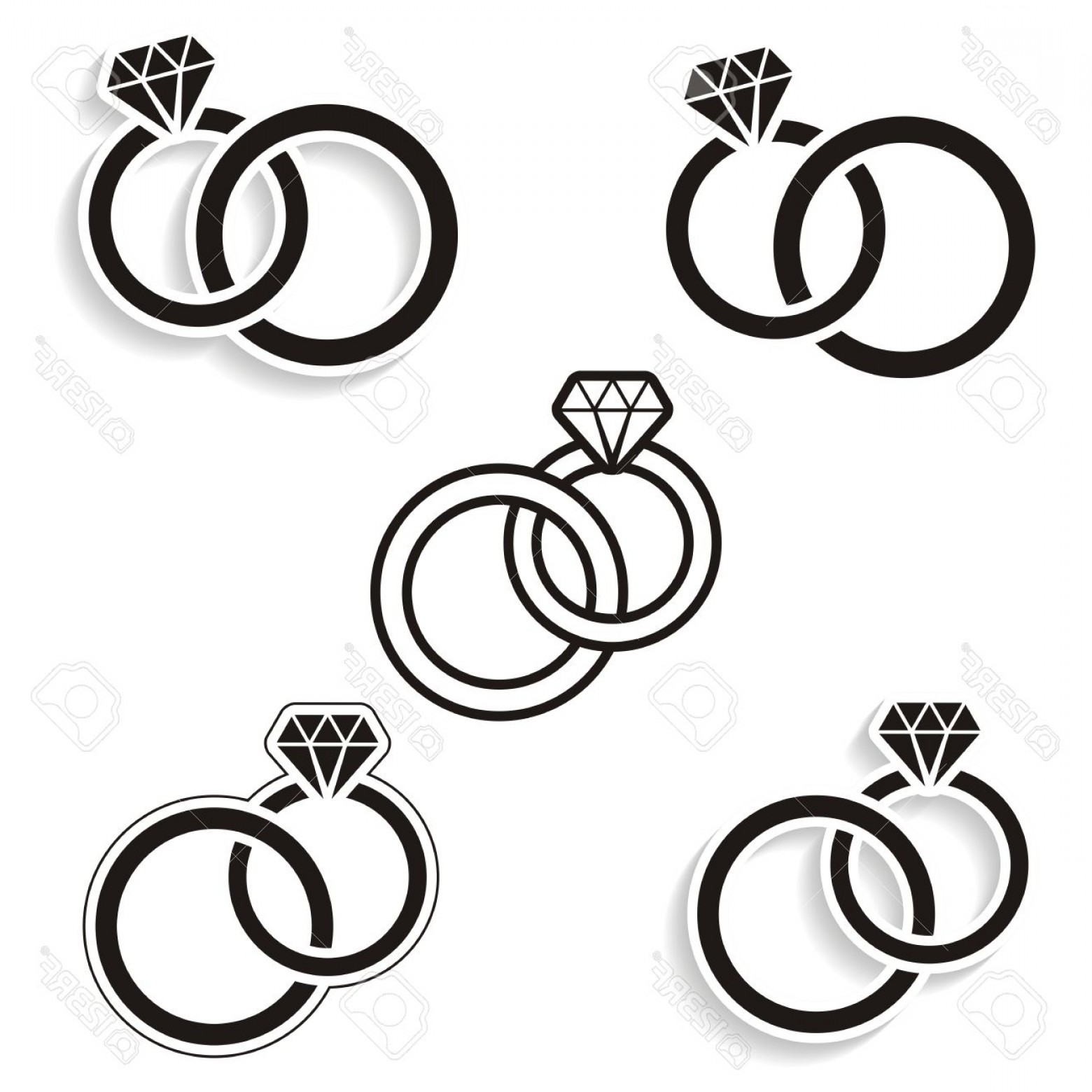 1560x1560 Ring Drawing Entwined For Free Download