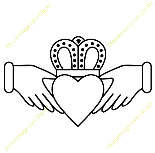 500x493 Clipart Claddagh With Intricate Crown