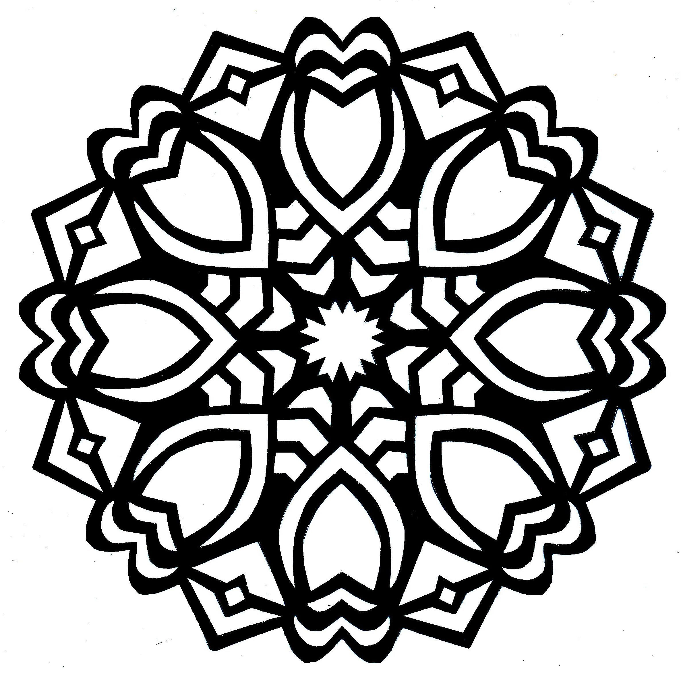 2372x2359 Claddagh Drawing Mandala For Free Download
