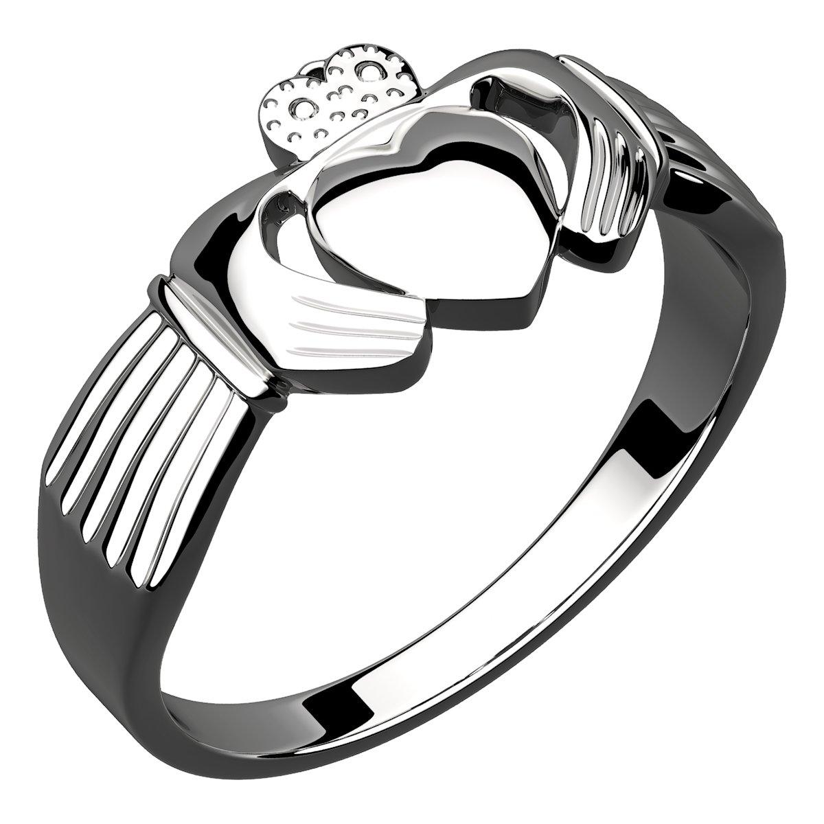 1200x1200 Sterling Silver Irish Claddagh Ring Symbolize Friendship, Love