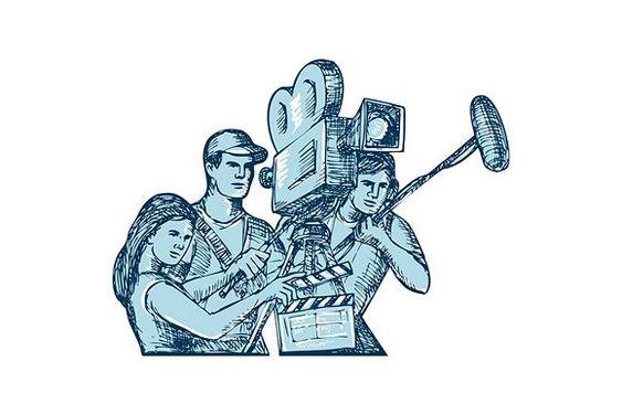 563x375 film crew clapperboard cameraman sou