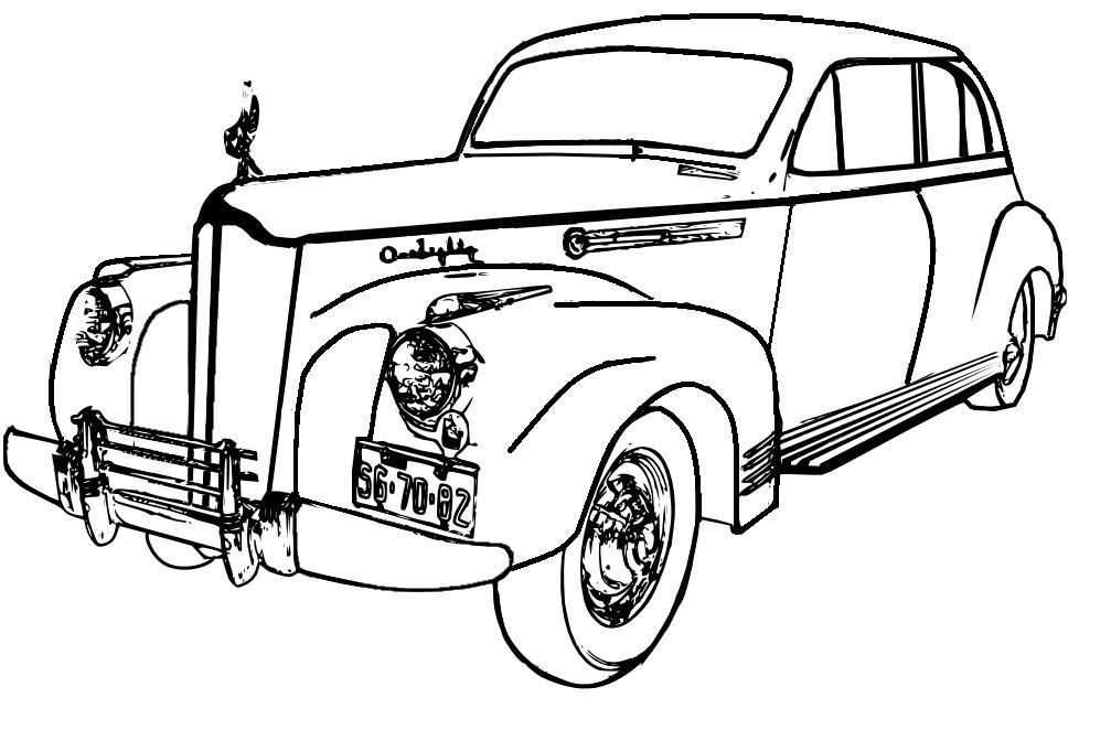 Classic Car Drawing