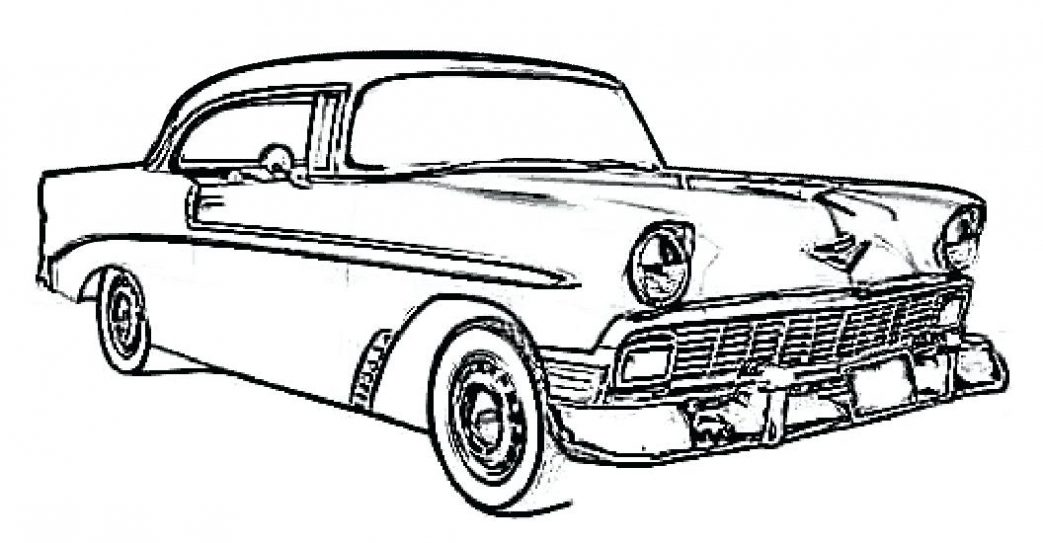 1043x543 Classic Muscle Car Coloring Pages Best Of Model T Drawing