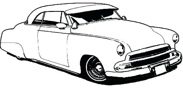 600x327 How To Draw Classic Car Coloring Pages For Adults Free Printable
