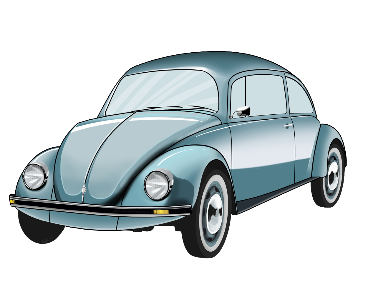 1250x1000 Volkswagon Drawing Volkswagen Vintage Transparent Png Clipart